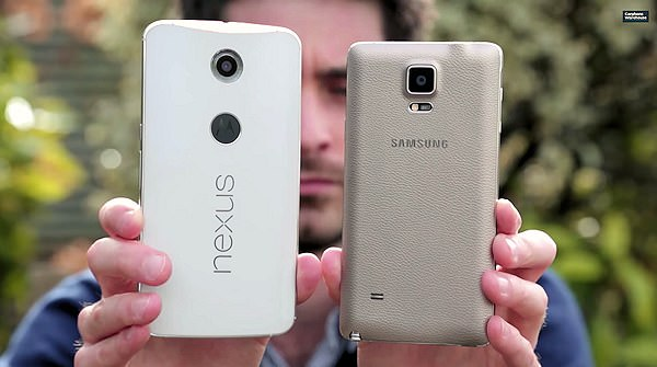 Motorola Nexus 6 jämförs med Galaxy Note 4 i YouTube-video