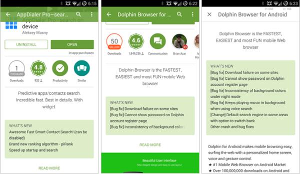 """Google Play uppdateras till version 5.0, får """"Material Design"""""""