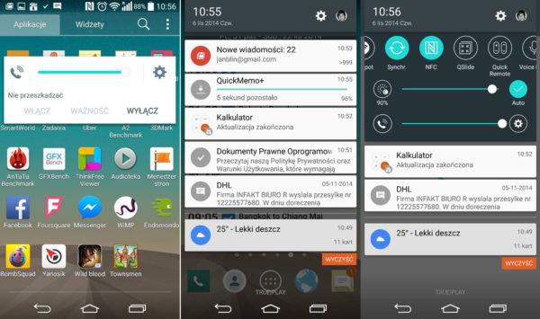 Första skärmdumparna från LGs Android 5.0-gränssnitt på G3