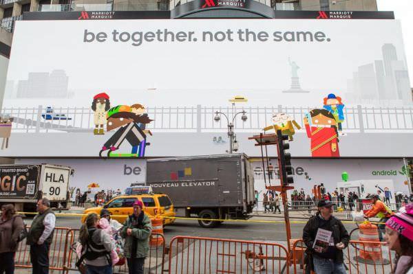 Googles Androidannons på Times Square har 24 miljoner pixlar