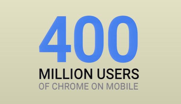 Webbläsaren Chrome har 400 miljoner mobilanvändare