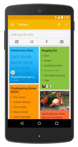 Google Keep stödjer till sist delning av listor och anteckningar