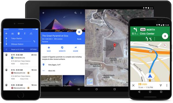 Google presenterar nya Maps för Android