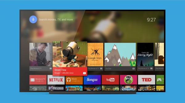 Google släpper hemskärmen för Android TV i Play Store
