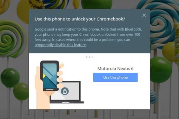 Din telefon kan snart agera nyckel åt din Chromebook
