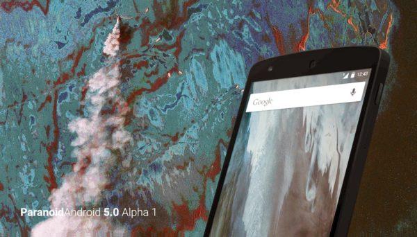 Paranoid Android släpper första alfaversionen av Lollipop