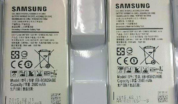 Ytterligare indikationer på att Galaxy S6 får 2600mAh-batteri