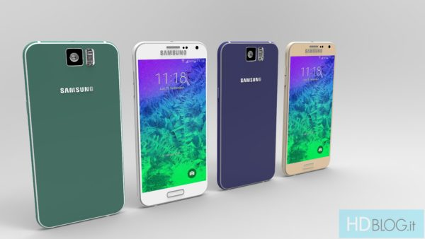 Inofficiella konceptbilder på Samsung Galaxy S6 baserade på rykten
