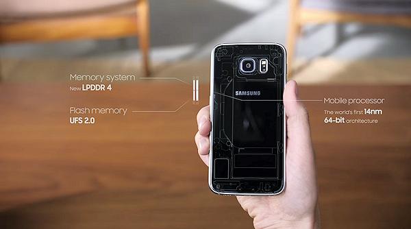 Samsungs senaste S6-reklam diskuterar hårdvaran