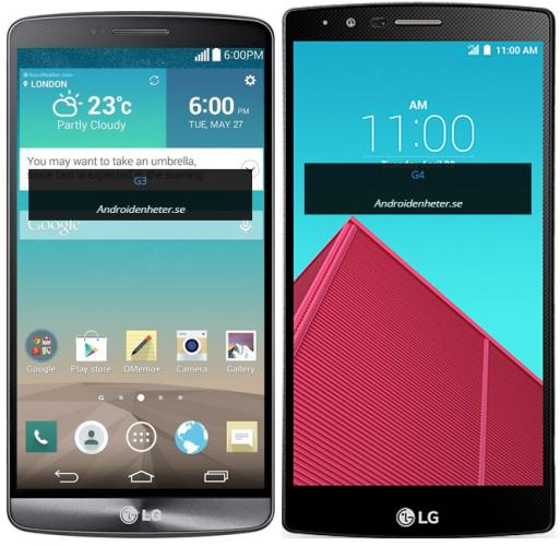 Så här stor är LG G4 jämfört med andra toppmodeller