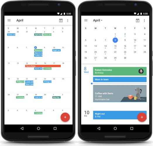 Månadsvyn kommer tillbaka till Googles kalenderapp