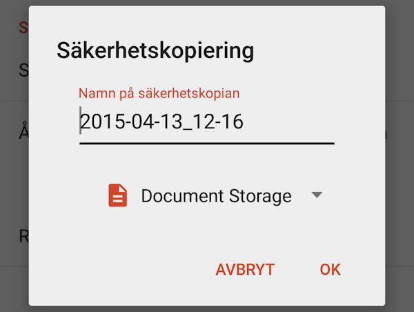 Snabbtips: Spara Nova-backup direkt till Google Drive