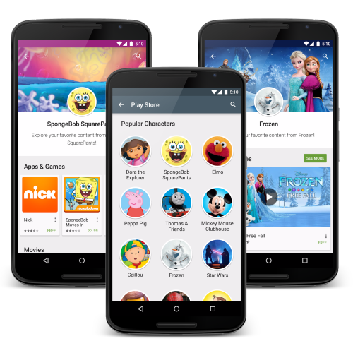 Google gör Play Store mer familjevänligt