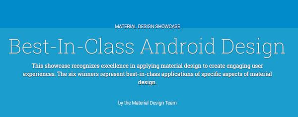 Google visar upp bästa apparna med Material Design