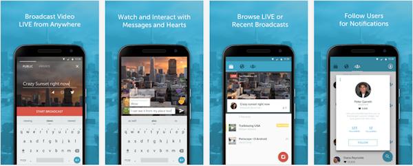Periscope nu i Google Play, låter användare sända livevideo