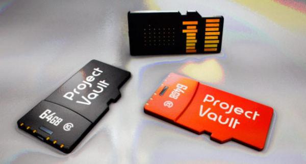 Project Vault är en avancerad säkerhetslösning i form av minneskort