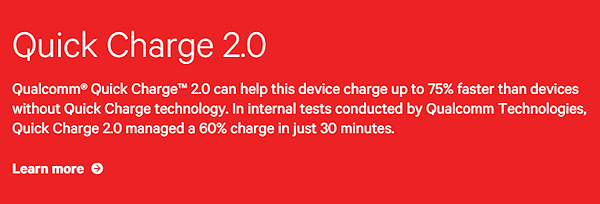 LG G4 stödjer Quick Charge 2.0, trots allt