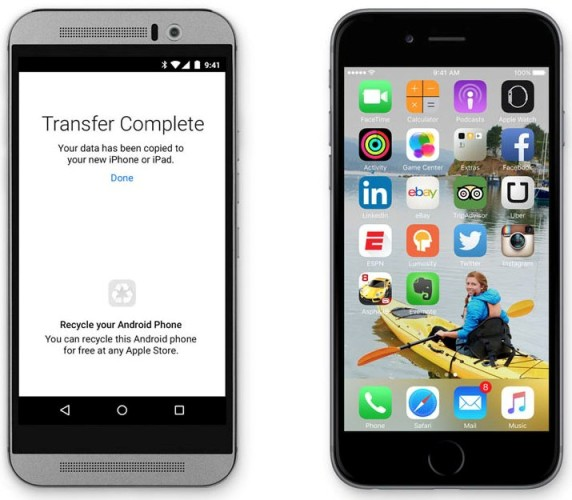 Apple har skapat en Androidapp som hjälper användare byta till IOS