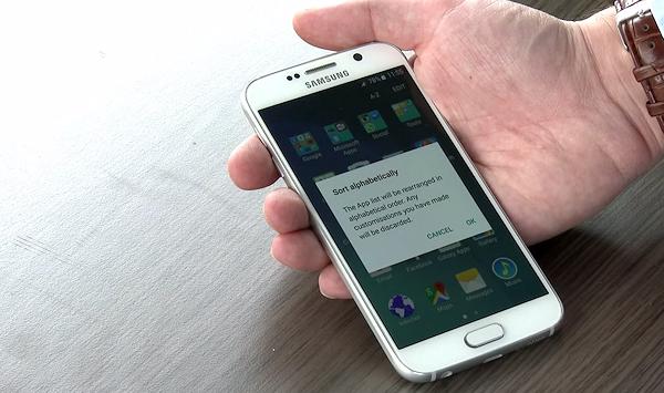 Alfabetisk sortering i applådan ser ut att göra comeback i Galaxy S6