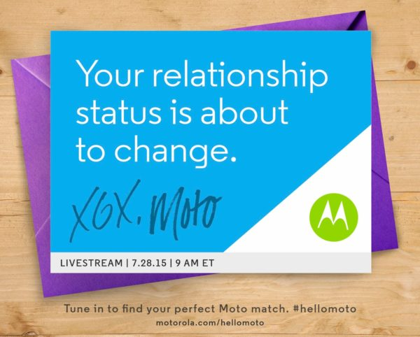Motorolas evenemang går av stapeln 28:e juli, nya Moto-enheter är att vänta