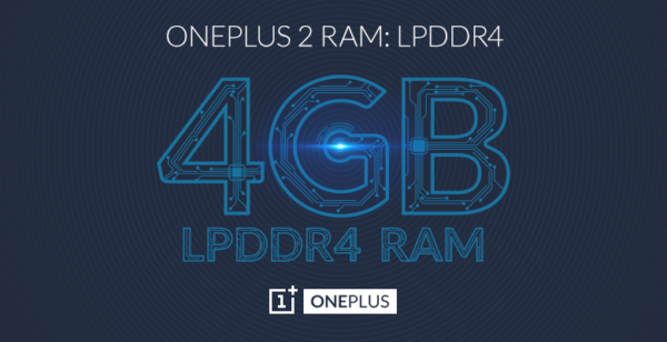 OnePlus 2 har utrustats med 4GB LPDDR4-RAM