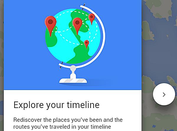 Google Maps visar tidslinje med alla platser du besökt