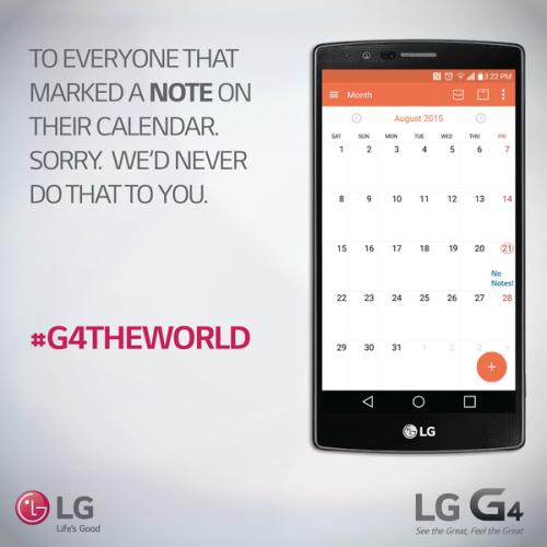 LG om Galaxy Note 5: Beklagar. Vi skulle aldrig göra så mot er.
