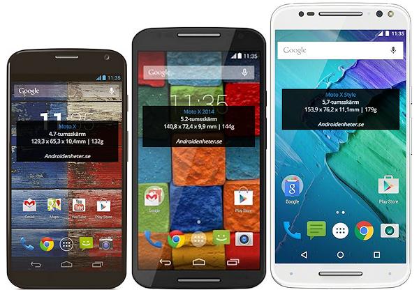 Storleksjämförelser med Motorolas och OnePlus nya telefoner