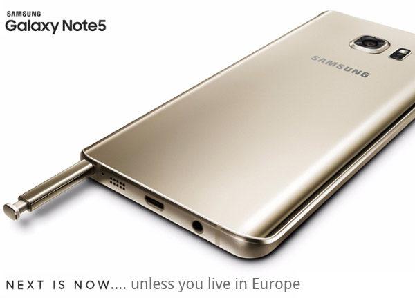 Samsung: Galaxy Note 5 kommer inte till Europa