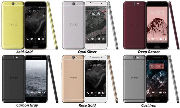 HTC:s metallmobil Aero i sex färger
