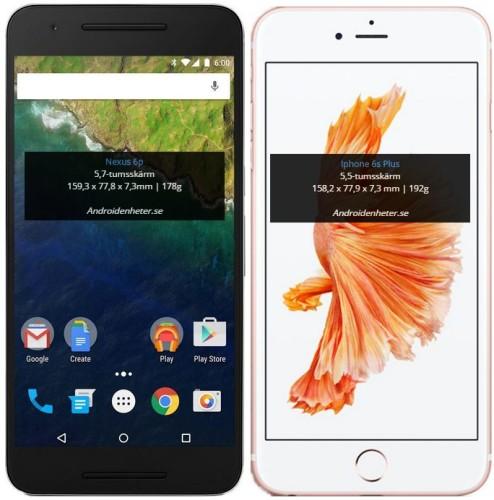 Så här stora är Huawei Nexus 6P och LG Nexus 5X