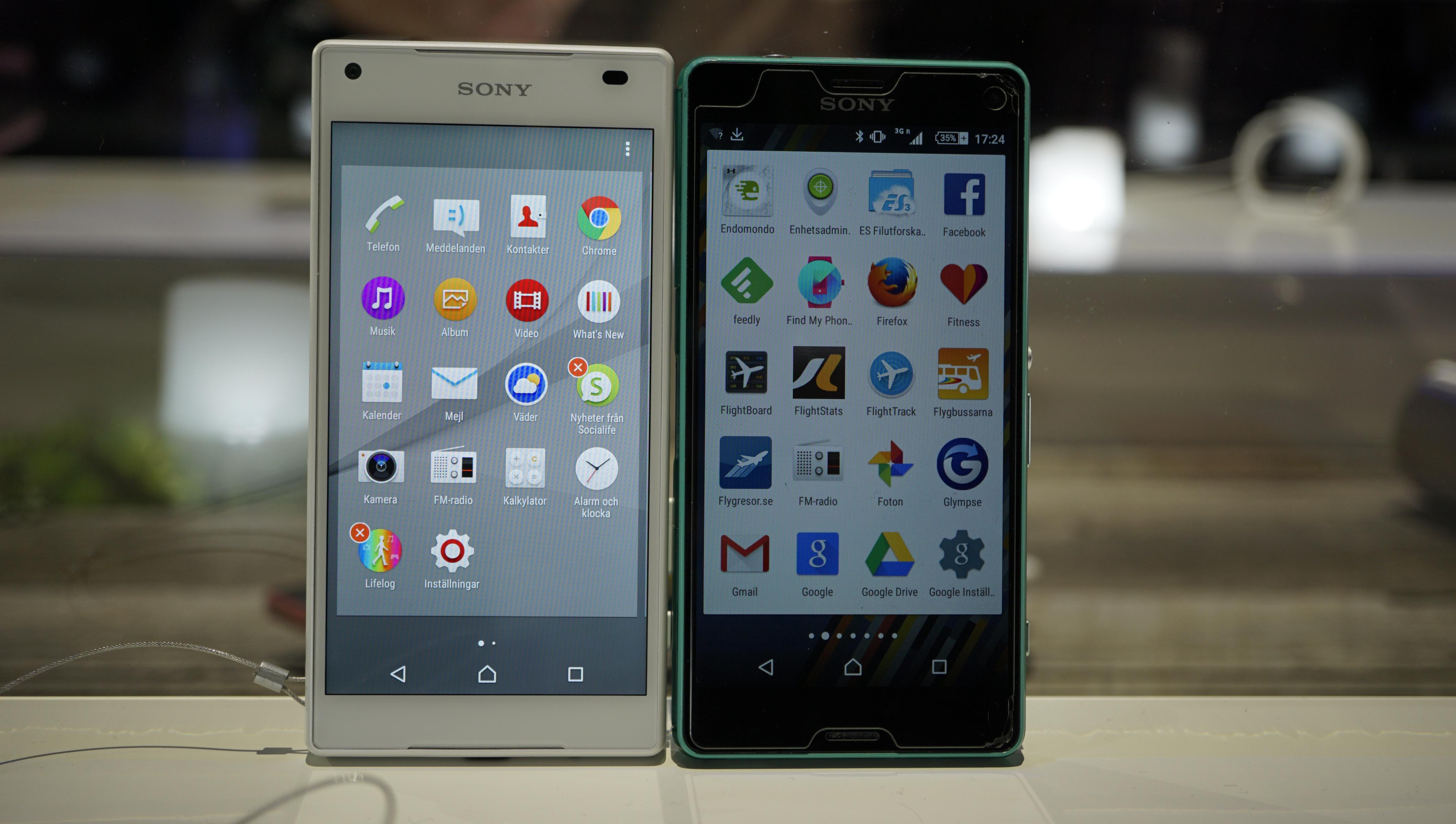 En första titt på Sony Xperia Z5, Z5 Compact och Z5 ...