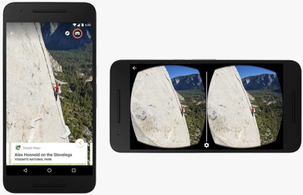 Nu fungerar Street View tillsammans med Google Cardboard
