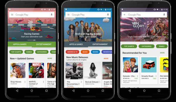 Nya Play Store-appen börjar trilla in till Androidenheter