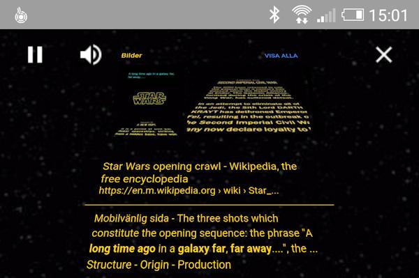 Googles sökmotor har ett Star Wars-påskägg